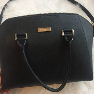 Black Kate Spade hand bag only used a couple times